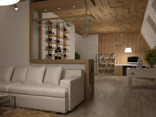 Tatiana Zaitseva Design Studio Minimalist wine cellar