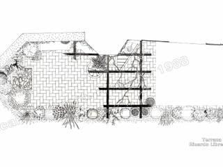 Terraza Privada. Planta:  de estilo  de GreenerLand. Arquitectura Paisajista y Tematización