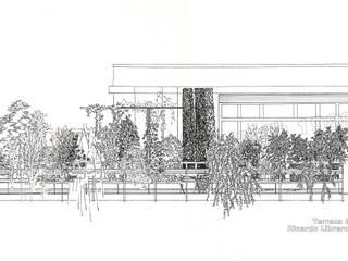 Terraza Privada. Alzado:  de estilo  de GreenerLand. Arquitectura Paisajista y Tematización