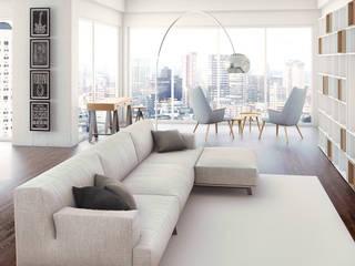 Visuel d'un appartement: Salon de style de style Moderne par Deesys graphics
