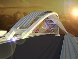 puente Santiago - La banda:  de estilo  por Arq. Jose F. Correa Correa