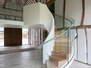 EeStairs® Helical Stairs EeStairs | Stairs and balustrades Modern corridor, hallway & stairs Glass