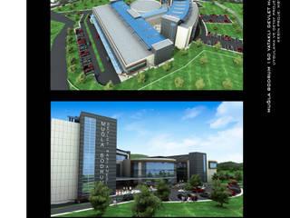 Muğla Bodrum 150 Yataklı Devlet Hastanesi Modern Hastaneler ArtıEksi7 Mimarlık Atölyesi Modern