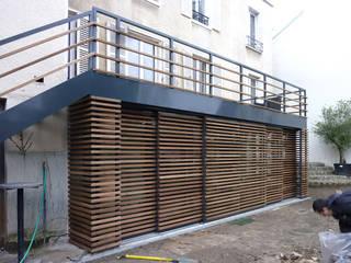Olivier Stadler Architecte Terrace Wood Wood effect