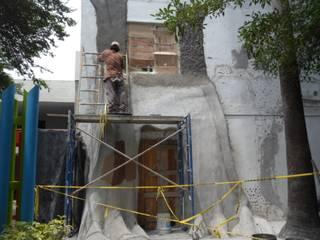 PROCESO DE CONSTRUCCION Escuelas de estilo rústico de DISEÑO PROYECTOS Y CONSTRUCCION Rústico Hormigón reforzado