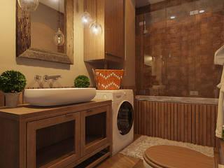 Rustic style bathroom by Частный дизайнер и декоратор Девятайкина Софья Rustic