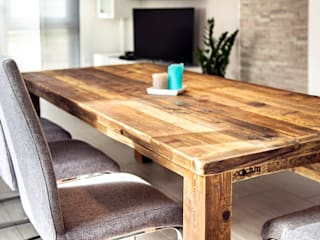 dining set with one bench edictum - UNIKAT MOBILIAR 餐廳桌子