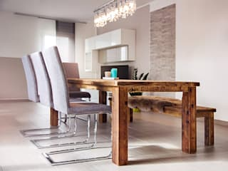 dining set with one bench edictum - UNIKAT MOBILIAR 餐廳