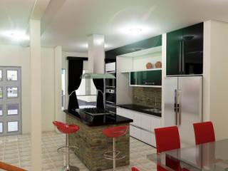 Proyecto Villa Saamar.: Cocinas de estilo moderno por Arq. Susan W. Jhayde