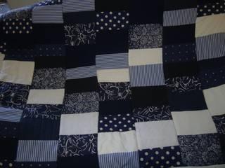 Patchworkdecke,blau,weiß:   von schneiderei jerke