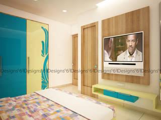 Residence of Mr. Kale Modern style bedroom by 6F Design Studio Modern