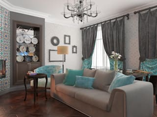 クラシックデザインの リビング の Design interior OLGA MUDRYAKOVA クラシック