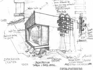 Oficinas Experience Center Venezuela- Smurfit Kappa, Vanezuela Jardines de estilo minimalista de Eisen Arquitecto Minimalista