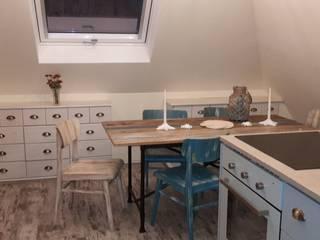 Umgestaltung einer Küche im maritimen Stil unter Hinzuziehung von so viel Upcycling wie möglich: ausgefallene Küche von andercover