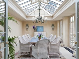 Impressive Twin Classical Orangeries - Dining Room Classic style conservatory by Vale Garden Houses Classic Wood Wood effect