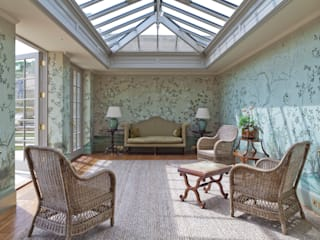 Impressive Twin Classical Orangeries - Sitting Room:  Conservatory by Vale Garden Houses