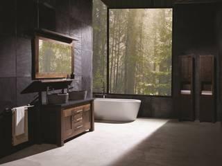 Full Bathroom Walnut Finesse Range Stonearth Interiors Ltd Modern style bathrooms Solid Wood