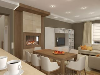 Skandinavische Wohnzimmer von Design interior OLGA MUDRYAKOVA Skandinavisch