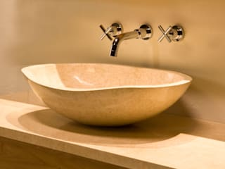 Stonearth - Stone Basins Rustic style bathrooms by Stonearth Interiors Ltd Rustic