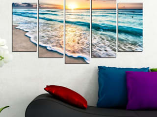 5-teiliges Wandbild Natur: modern  von Lesara,Modern