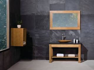 Prestige Open Shelf Solid Wood Washstand:  Bathroom by Stonearth Interiors Ltd