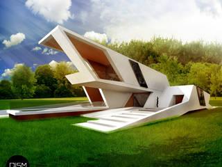 Dom nad morzem Nowoczesne domy od DISM Architekci Nowoczesny