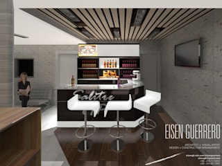 Vista Barra VIP. Minimarket La Barrica. 2015 Bodegas de estilo minimalista de Eisen Arquitecto Minimalista