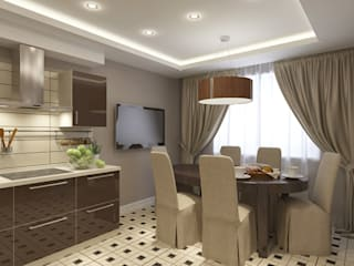 クラシックデザインの キッチン の Design interior OLGA MUDRYAKOVA クラシック