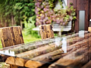 dining table with glass tabletop edictum - UNIKAT MOBILIAR 餐廳桌子