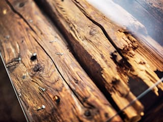 dining table with glass tabletop edictum - UNIKAT MOBILIAR 陽台、門廊與露臺 家具