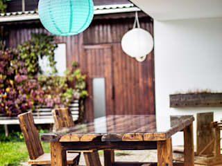 dining table with glass tabletop edictum - UNIKAT MOBILIAR 露臺