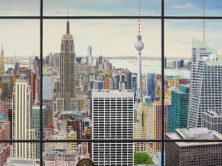 Illusionsmalerei I Wandmalerei- the skyline Moderne Arbeitszimmer von fialkowske design Modern