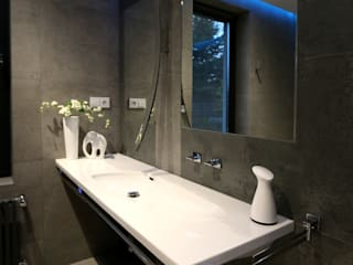 CHŁODNA ELEGANCJA Minimalistyczna łazienka od TOKA + HOME Minimalistyczny