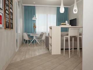 living room Гостиная в скандинавском стиле от Yana Ikrina Design Скандинавский