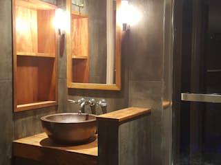 Charcoal & Copper bath and steam room Design Republic Limited 浴室