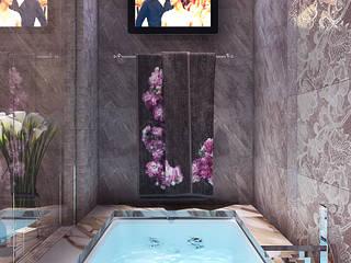 Проект ванной комнаты при спальне в частном коттедже: Ванные комнаты в . Автор – Your royal design