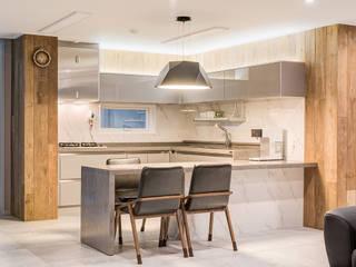 수원시 영통구 이의동 자연앤자이아파트 (48평형) 모던스타일 다이닝 룸 by 아르떼 인테리어 디자인 모던