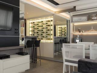 APARTAMENTO BAIRRO PETRÓPOLIS 1 Salas de jantar modernas por DUDALOSS ARQUITETURA E DESIGN Moderno