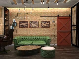 Брутальный кабинет: Рабочие кабинеты в . Автор – Design ,