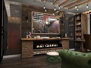 Брутальный кабинет: Рабочие кабинеты в . Автор – Design