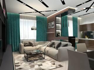 Современная квартира в ЖУлебино: Гостиная в . Автор – Design