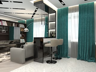 Современная квартира в ЖУлебино: Гостиная в . Автор – Design ,