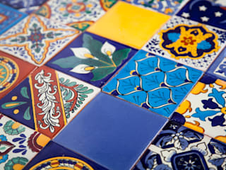 Meksykańskie płytki ręcznie malowane - wielokolorowe: styl , w kategorii  zaprojektowany przez Kolory Meksyku