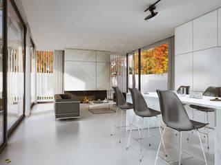 Wohnzimmer von PAWEL LIS ARCHITEKCI, Minimalistisch