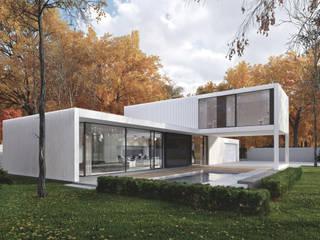 Terrasse von PAWEL LIS ARCHITEKCI, Minimalistisch