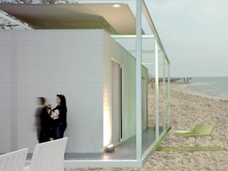 Casa prefabbricata BH2 : Terrazza in stile  di Benedini & Partners