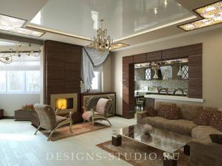 Salon de style  par Дизайн Студия Леоновой Натали, Éclectique