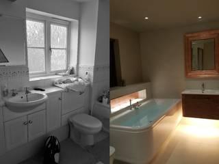 Three Bathroom Renovations For Family Home Design Republic Limited 現代浴室設計點子、靈感&圖片 Wood effect