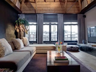 Canal Loft Amsterdam Moderne woonkamers van Ethnic Chic - Home Couture Modern