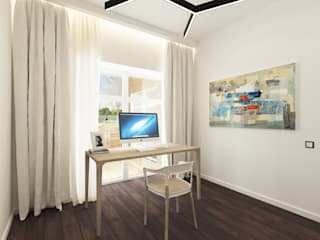 Estudios y oficinas minimalistas de Ivantsov design studio Minimalista Madera Acabado en madera